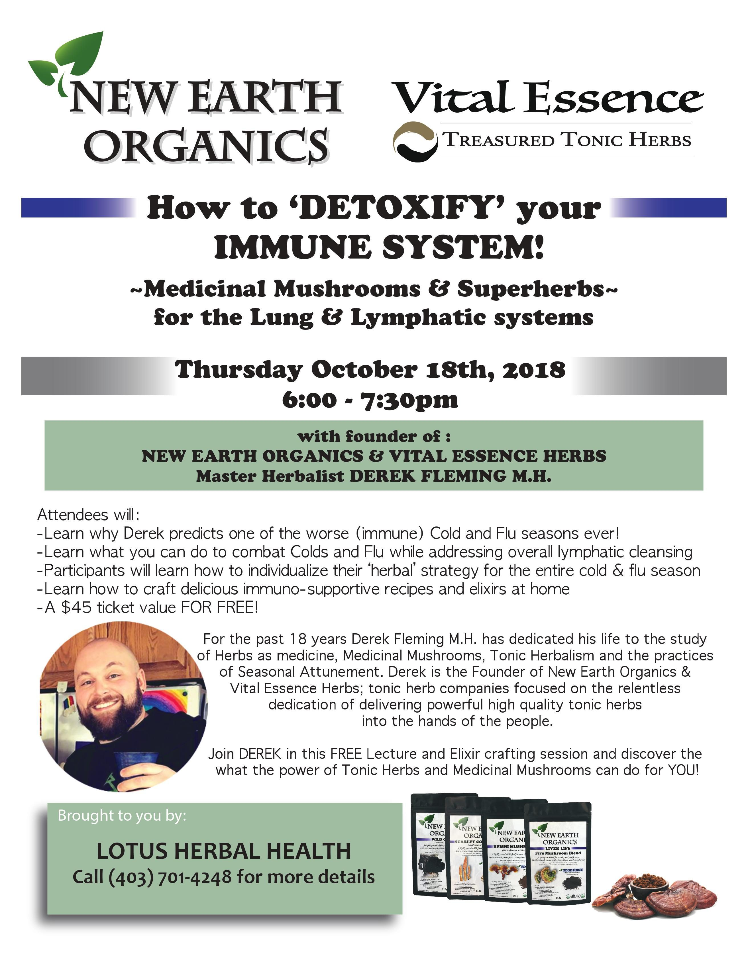 sold out* Detoxifying Your Immune System: November 15th |